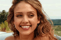 Jessica Alba laugh moving picture