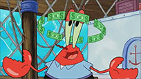 Mr krabs money in head animated GIF