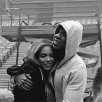 Beyonce And Jay Z hug animated GIF
