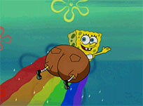 SpongeBob flying animated GIF