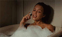 Jessica Alba in bathroom animated GIF