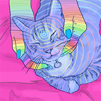 Phazed cat animated GIF