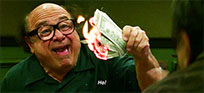 Frank Reynolds money animated GIF