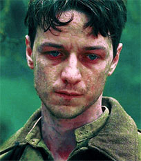 James McAvoy crying animated GIF