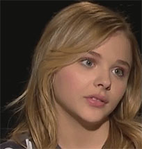 Chloe Moretz eye roll animated GIF