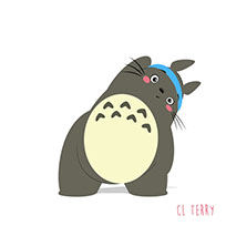 Totoro fitness moving picture