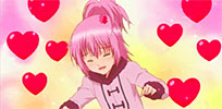 Happy anime hearts animated GIF