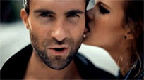 Adam Levine bite ear animated GIF