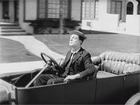Car trouble Buster Keaton animated GIF
