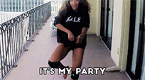 Beyonce Birthday dance party animated GIF