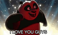 Kung Fu Panda love animated GIF