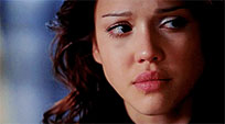 Jessica Alba crying animated GIF