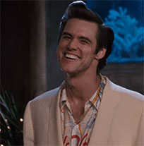 Jim Carrey thumbs up moving picture