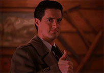 Dale Cooper thumbs up animated GIF