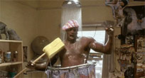 Shaquille Oneal takes shower moving picture