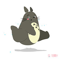 Totoro on run moving picture