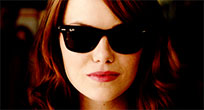 Emma Stone air kiss animated GIF