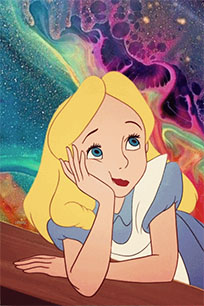 Psychedelic Alice animated GIF