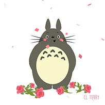 Totoro greeting animated GIF