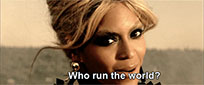 Beyonce Run the world animated GIF