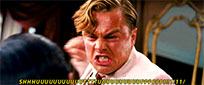 Leonardo DiCaprio angry moving picture