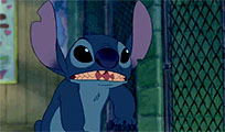 Stitch says Hi moving picture