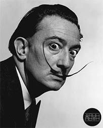 Salvador Dali spinning eyes animated GIF