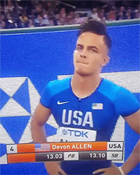 Devon Allen trick animated GIF
