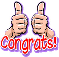 Congratulations thumbs up animated GIF