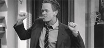 Barney Stinson dancing animated GIF