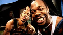 Busta Rhymes eating chicken legs moving picture