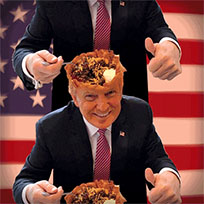 Trump taco bowl meme animated GIF