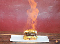 Fire burger animated GIF