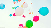 Flying balloons free GIF download