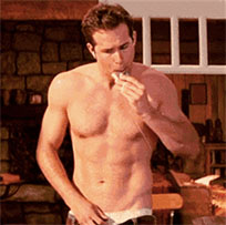 Ryan Reynolds undressed animated GIF