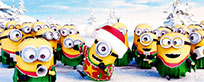 Merry Christmas and Happy New Year Minions moving picture