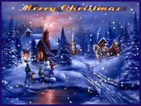 Merry Christmas its snowing outside animated GIF