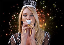 Candice Swanepoel wishes Happy New Year animated GIF