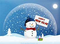 Happy New Year Snowman moving picture