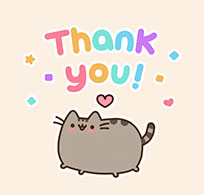 Cat Says Thank You animated GIF
