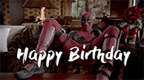 Deadpool Happy Birthday animated GIF