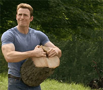 Steve Rogers strength of hands animated GIF