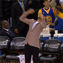 Stephen Curry reaction moving picture