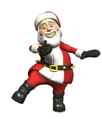 Christmas happy Santa dance moving picture