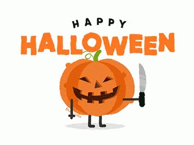 Happy Halloween Curve free GIF download