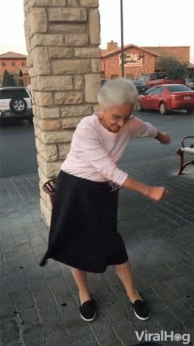 Viralhog Grandma Dance animated GIF