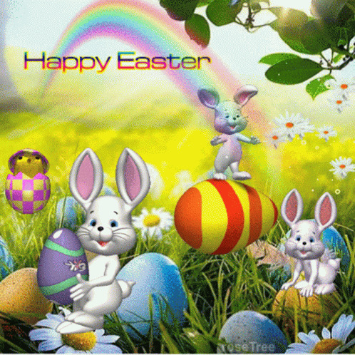 Happy Easter Bunny free GIF download