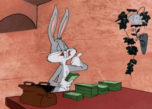 Bugs Bunny Money animated GIF