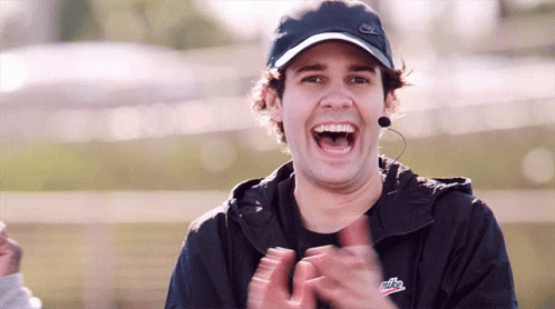 Laughing David Dobrik free GIF download