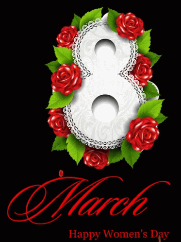 Happy Womens Day March8 free GIF download